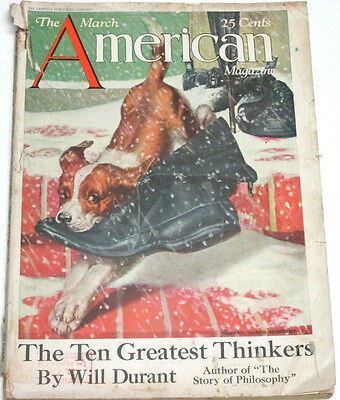 The American Magazine March 1927, The Ten Greatest Thinkers