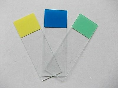 MICROSCOPE SLIDES, GROUNDED EDGE , 76 x 26 x 1 mm BOX OF 50 COLOUR MARKING AREA