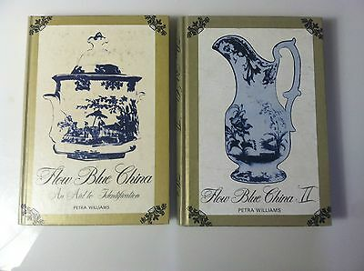 Lot of 2 Flow Blue China 1 & 2 Vintage Books By Petra Williams