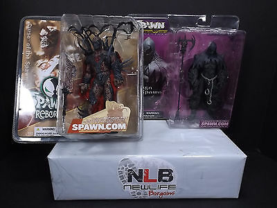 Mcfarlane Spawn Reborn and Raven Spawn Alternate Curse of the spawn 2 Figurine's