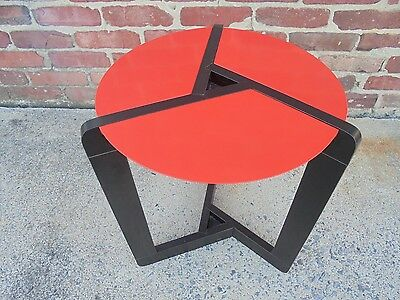 Vintage Post Mid Century Modern Memphis Period Red Lamp Table Starck Eames Era
