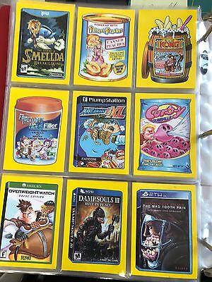 2017 Topps 50th Anniversary Wacky Packages CRAZY VIDEO GAME SET 9/9 YELLOW