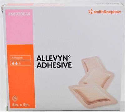 NEW - ALLEVYN ADHESIVE 5 x 5 BANDAGES - 66020044! EXP 2016-06