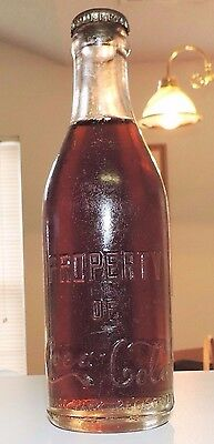 """Rare Unopened Straight Sided Coca Cola Bottle  """"  Conyers, Ga.  """"  Nice  """""""