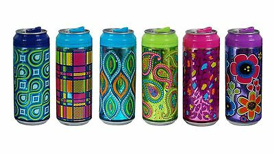 Cool Gear Can with Straw & Spill-Proof Sliding Closure - 473ml - Multicoloured