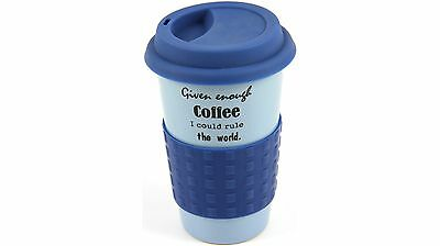 Morganware Double Wall Ceramic Travel Coffee Mug for up to 250ml - Blue