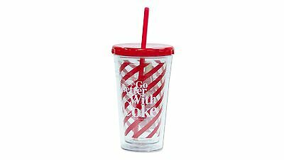 Cool Gear Coca-Cola Chiller with Straw - 473ml - Red