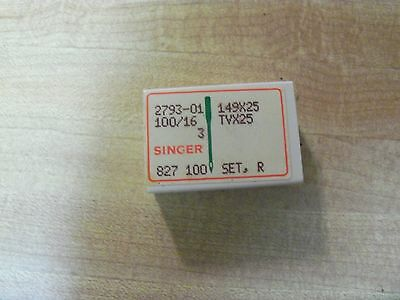 100 SINGER INDUSTRIAL 149x25 TVx25 HIGH SPEED NEEDLES SIZE 16 FOR MODEL 253-311