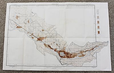 1905 Grand Junction Colorado Map Fruita Palisades Loma Railroads Original Large