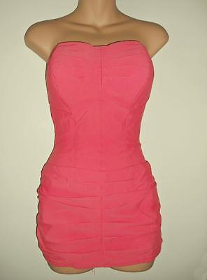 Vintage 1950s Rose Marie Reid Pink Pin-up Swimsuit Draped Sheath Bathing Beauty