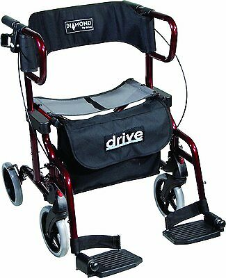 2717 Drive Medical Diamond Deluxe - Silla de rueda, con reposapiés, color negro
