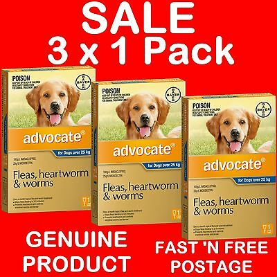 Advocate for Extra Large Dogs Blue Over 25kg 3 Pack ( Sold as 3 x 1 PACKS )
