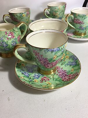 ANTIQUE VINTAGE EMPIRE WARE LILAC TIME CHINTZ AFTERNOON TEA SET Stunning!