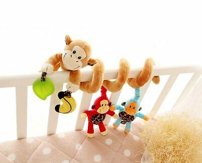 Infant Baby Activity Spiral Bed & Stroller Toy (Monkey)