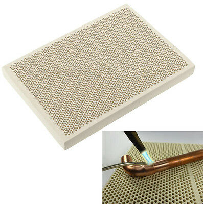 135x95x13mm Ceramic Honeycomb Soldering Board Block Heating For Gas Stove Head