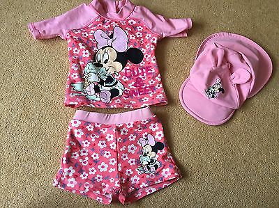 baby girl swimming costume 18 - 24 Months - 3pc Set