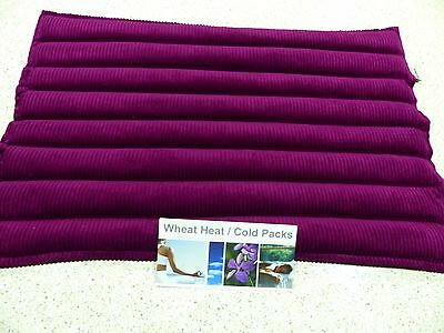 WHEAT BAGS LUPIN HEAT PACK XXXL Sectioned 53 x 37cm SANGRIA Great size for Back