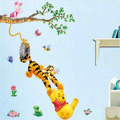 Removable Winnie The Pooh Baby Nursery Room Wall Sticker Decoration Art Decals o