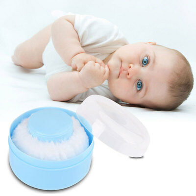 Baby Soft Talcum Powder Puff Container Sponge Box Case Make Up Cosmetic Tools