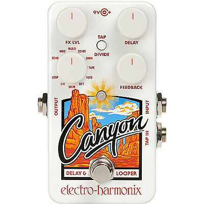 Electro Harmonix CANYON Delay & Looper Pedal +Picks