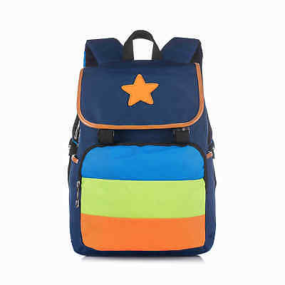 Dark Blue Kids Children Backpack Star Rucksack School Bag for Girls & Boys Cute