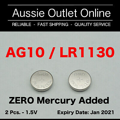 Quick Delivery 2 pcs. LR1130 AG10 1.5V Alkaline Batteries - Stock in Australia