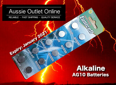 Quick Delivery 10pcs. AG10/LR1130 1.5V Alkaline Batteries - Stock in Australia