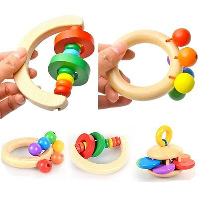 Percussion Toys Wooden Handbell Baby Kid New Musical Education Instrument Rattle