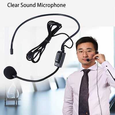 First Vocal Wired Headset Microphone microfono For Voice Amplifier Speaker BP