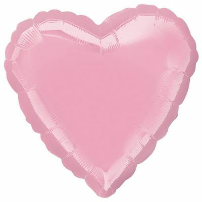 Iridescent Pearl Pink Heart Foil Balloons Birthday Wedding Party Decorations