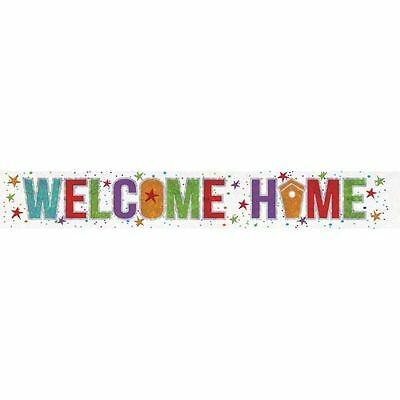 Multi Colour Holographic Welcome Home Banner Celebration Party Decorations