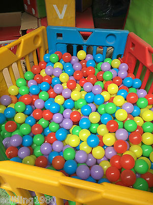 Wholesales 1000PCS Colorful Soft Plastic Pit Large Ball Seven Colors  Balls 7cm