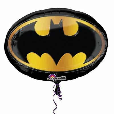 "Batman Emblem 27"" SuperShape Foil Balloon - Superhero Birthday Party Decorations"
