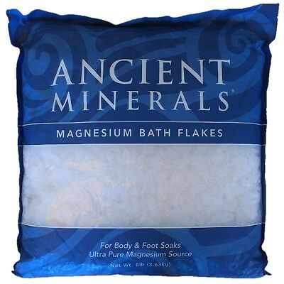 Ancient Minerals Magnesium Bath Flakes -  8lb Bag - Genuine Zechstein Magnesium
