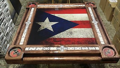 Puerto Rican Flag And Bacardi Theme Domino Table By Domino