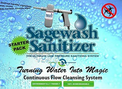 Sagewash Sanitizer Kennel Cleaning & Sanitizing  Starter Pack with 3 Tablets