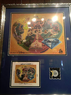 Disney Tinkerbell Diamond Celebration Cel Framed with Signed Card and Pin