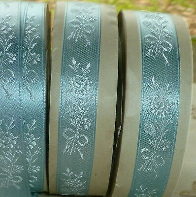 18 Yard Roll Vintage Blue Satin Ribbon Bouquets and Bows