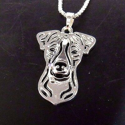 JACK RUSSELL TERRIER DOG Pendant with Necklace USA Silver Plate by Abby Rose