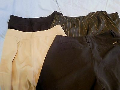Lot Of Four (4) Pair Women's Size 8 Dress Pants Casual Corner, New York & Co +