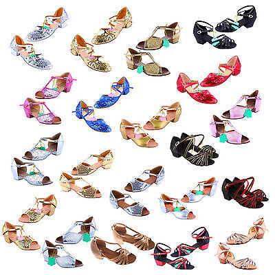 Ballroom Dance Shoes For Women And Kids Latin Shoes Heel High 3.5cm P5Y7