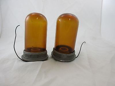 Killark Vga-1 Pendant Mount Amber Glass Globe (Lot Of 2) *60 Day Warranty*