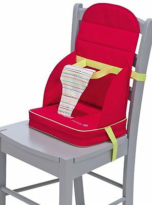 2782  Safety 1st Travel Booster+ - Trona portátil para silla, color Red Lines