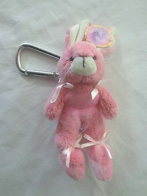 Cute Bag Hanger Pink Tutu Bunny with large clip