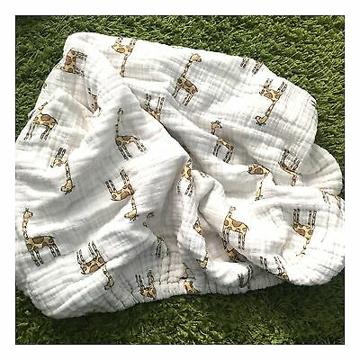 Aden and Anais Organic Cotton Muslin Baby Giraffe Changing Pad Cover! Soft Cute