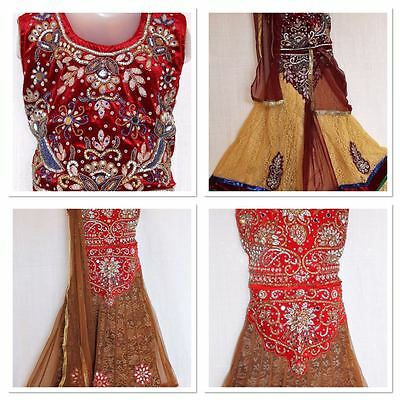 "Indian Handwork Ghagra Lacha Chanya Choli lehanga Size 24"" Girls age 5-7"
