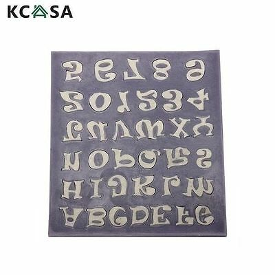 Alphabet Letter Number Fondant Cake Mold Silicone Cookie Soap Mould