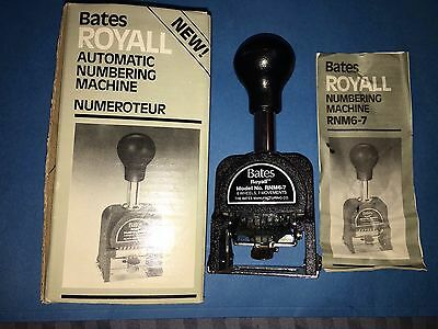Bates Royall Automatic Numbering Machine Numeroteur RNM6-7, Original Box