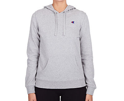 Champion Women's Logo Hoodie - Oxford Heather