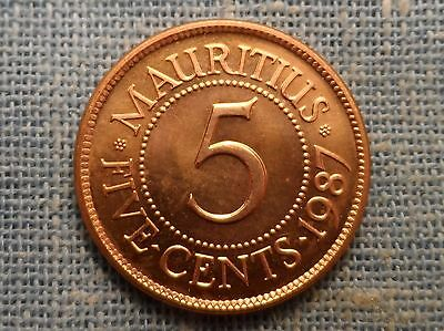 Mauritius  1987  5 Cent  Foreign Coin KM#52  BU UNC